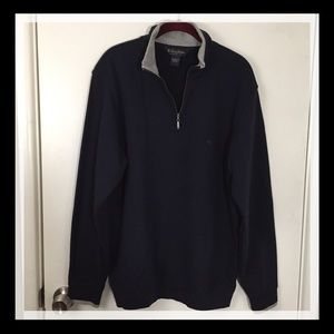 Brooks Brothers Navy Half Zip Pullover M Like New